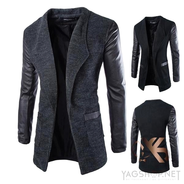 Manteau Chic Casual Patchwork tendance homme
