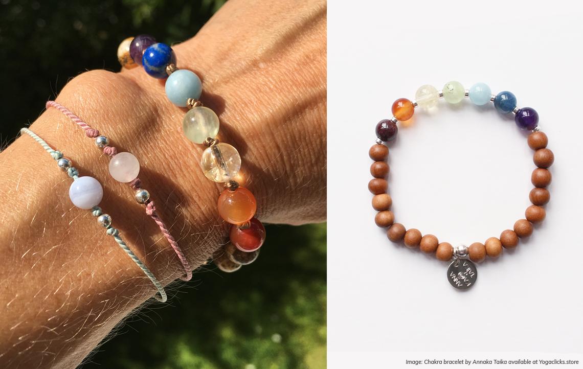 Chakra bracelet available at yogaclicks