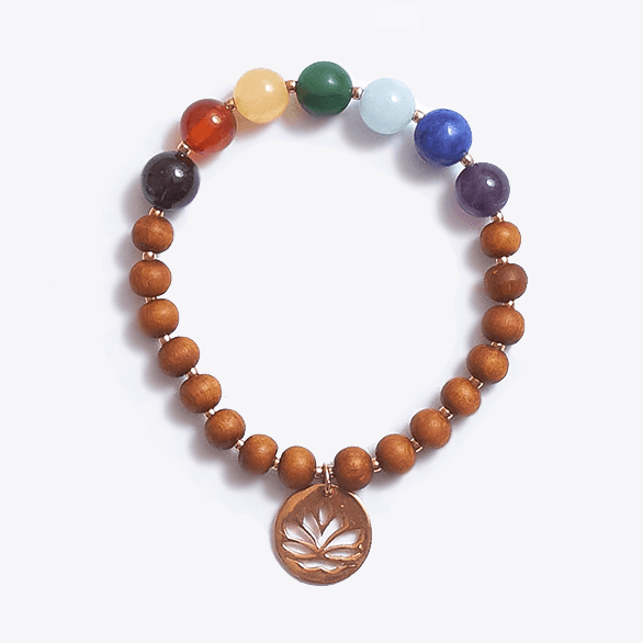 Healing Intentions 7 Gemstone and Sandalwood Chakra Bracelet