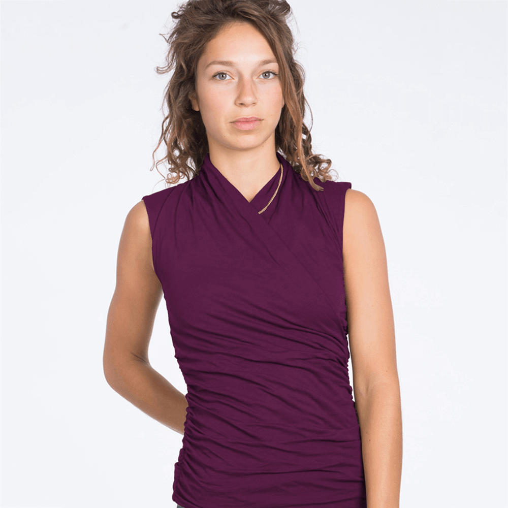 Good Karma Organic Yoga Tank - Deep Cherry