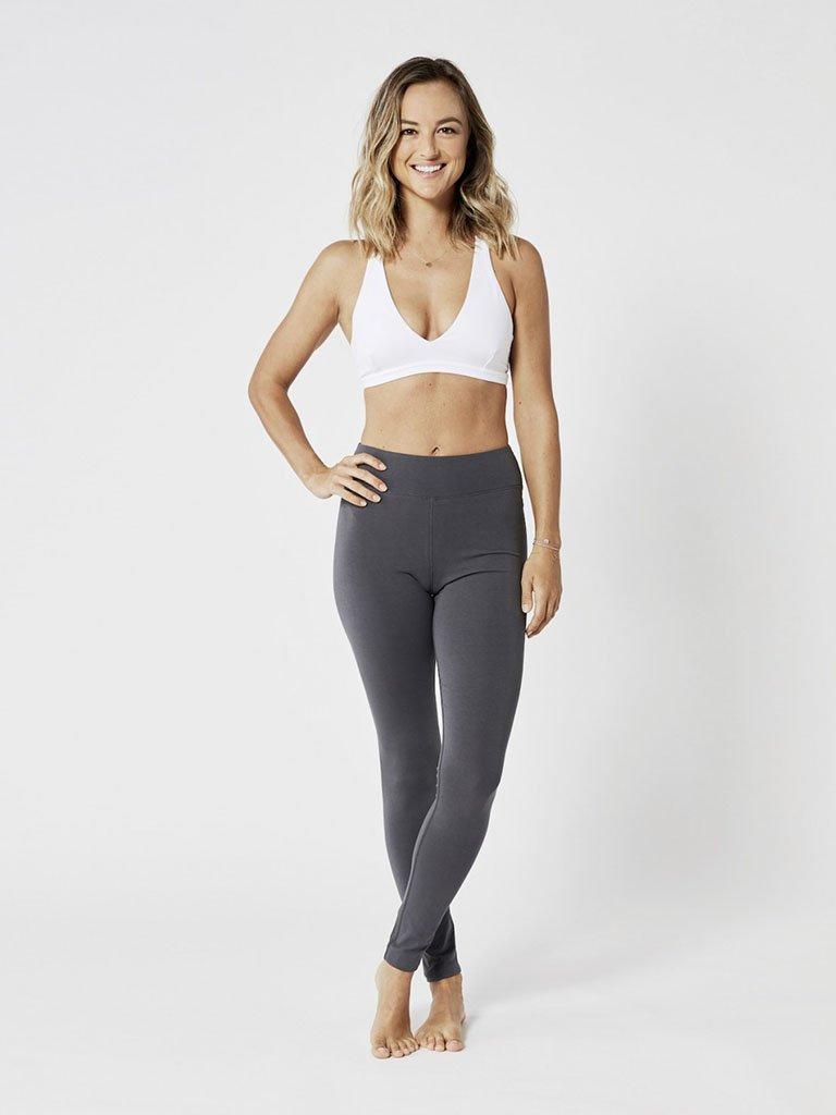 Organic Yoga Leggings - Graphite Grey