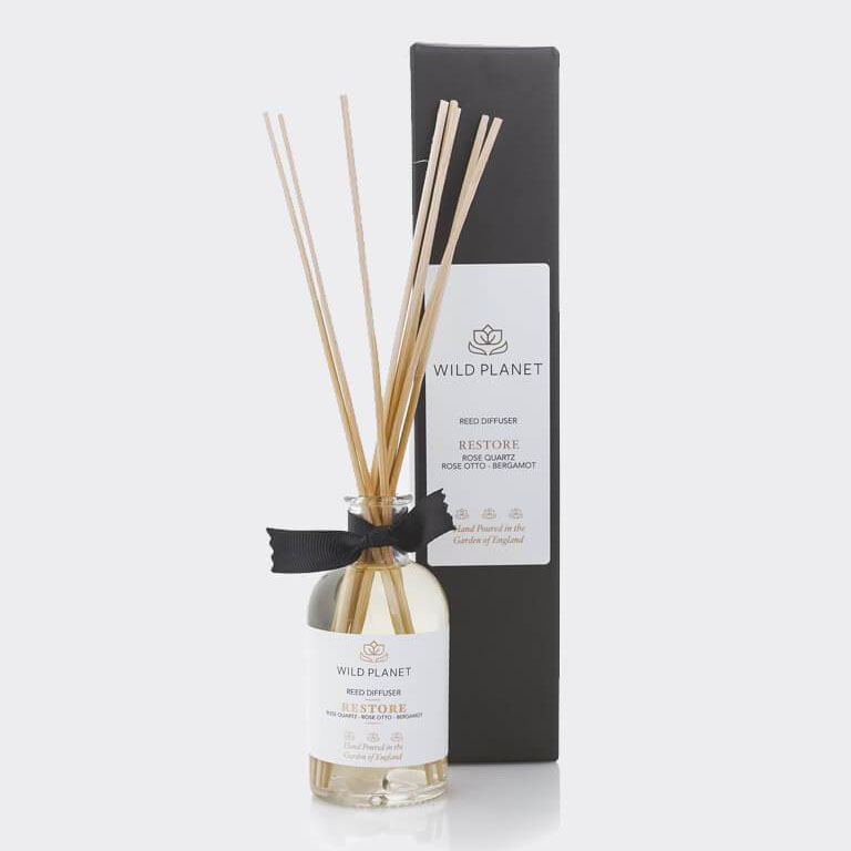 Restore - Crystal Infused Reed Diffuser with Rose Quartz