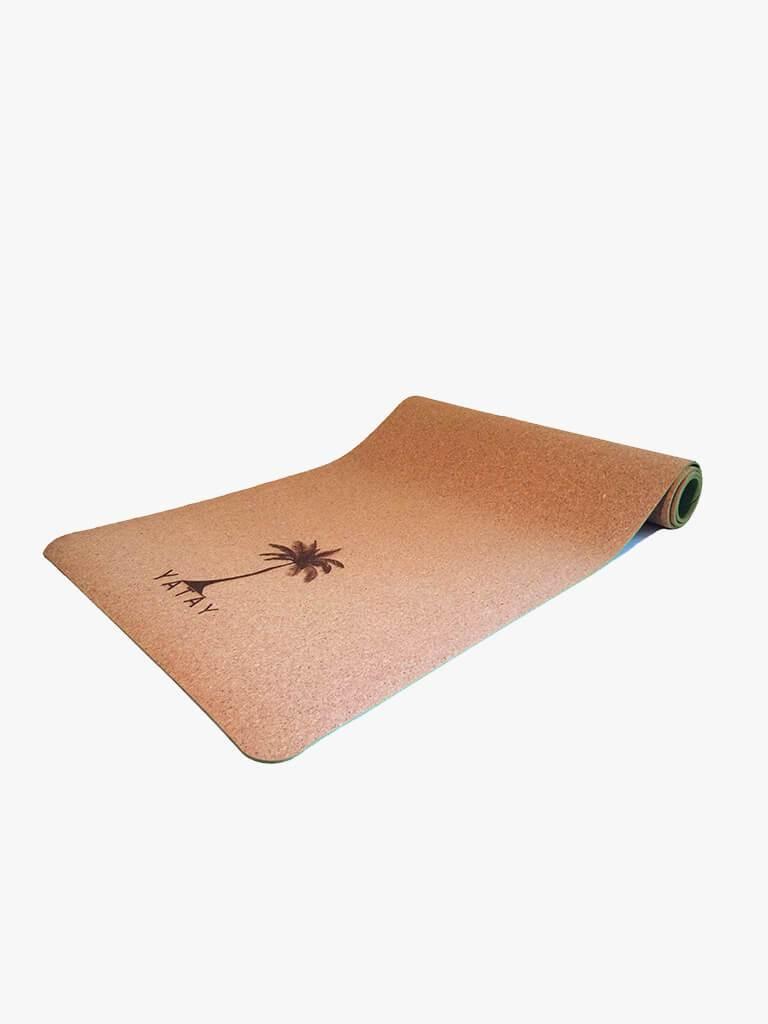 Cork Yoga Mat in Spring Zephyr Green by Yatay £59.99