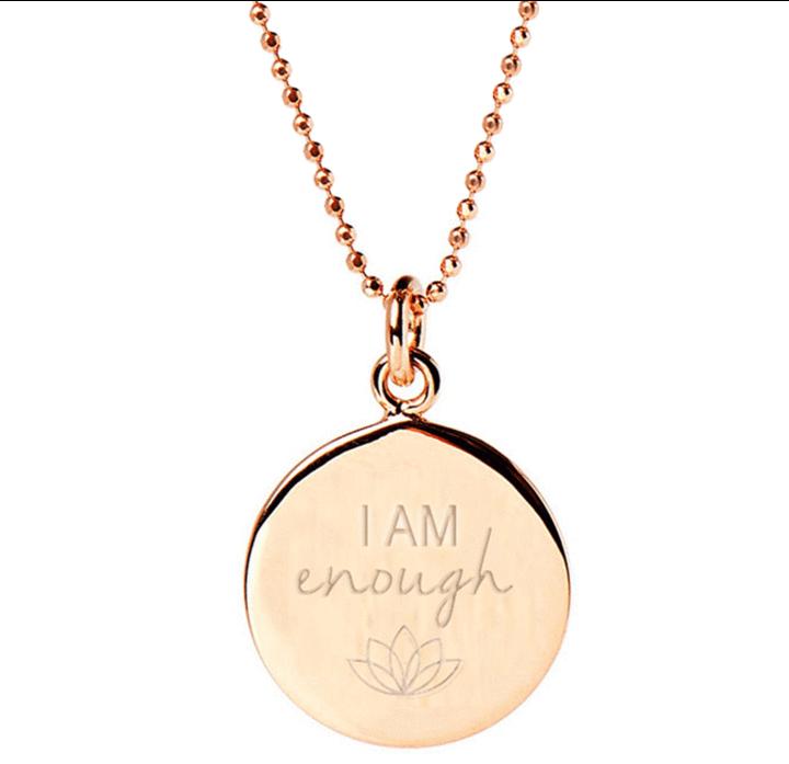 I Am Enough Pendant - Rose Gold
