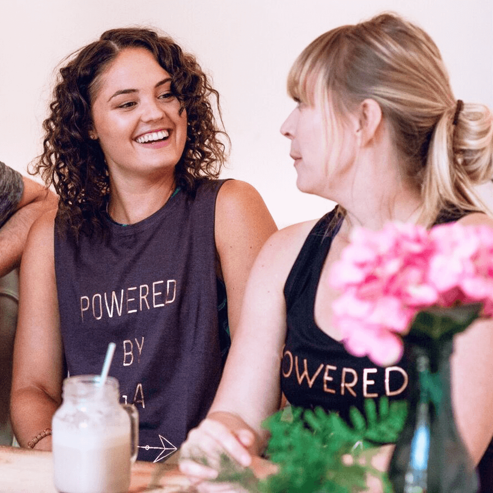 Powered By Yoga Tank Top - Organic Cotton Bamboo