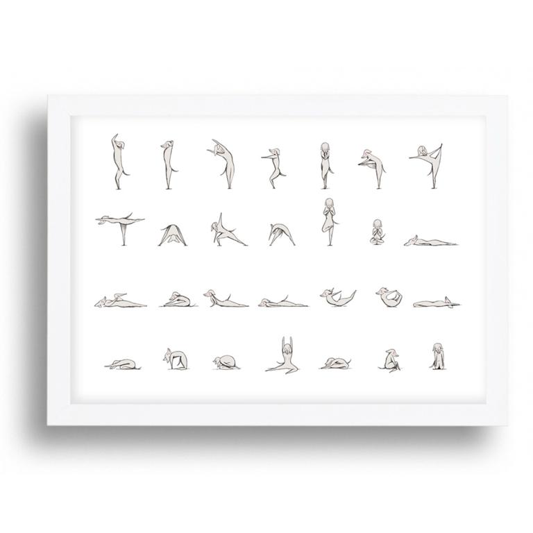 Yoga Dogs Art Print