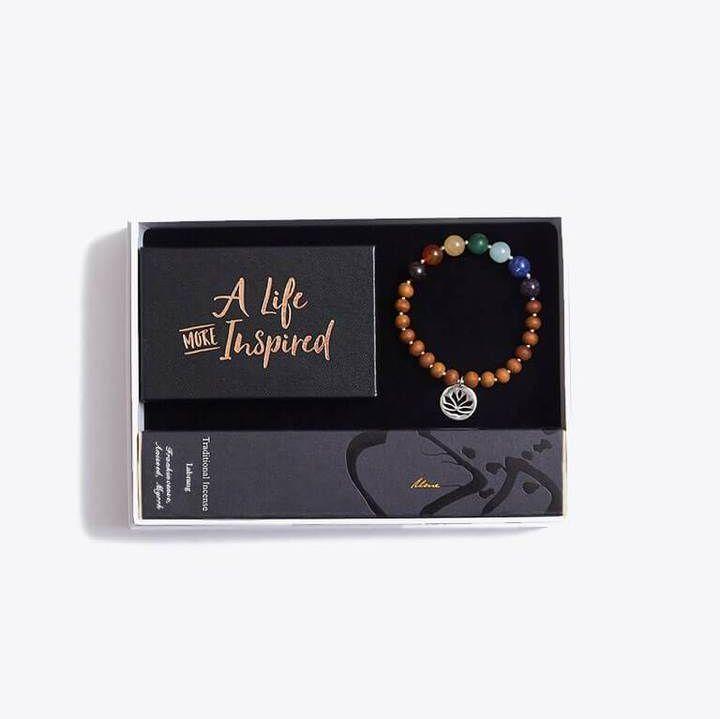 Chakra Bracelet Inspirational Cards & Incense Sticks Gift Set