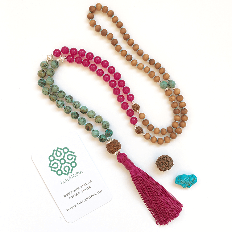 Bougainvillia Mala Necklace