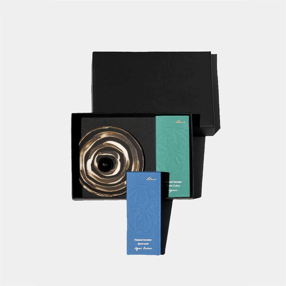 Incense Gift Box - Cypress, Benzoin & Incense Burner