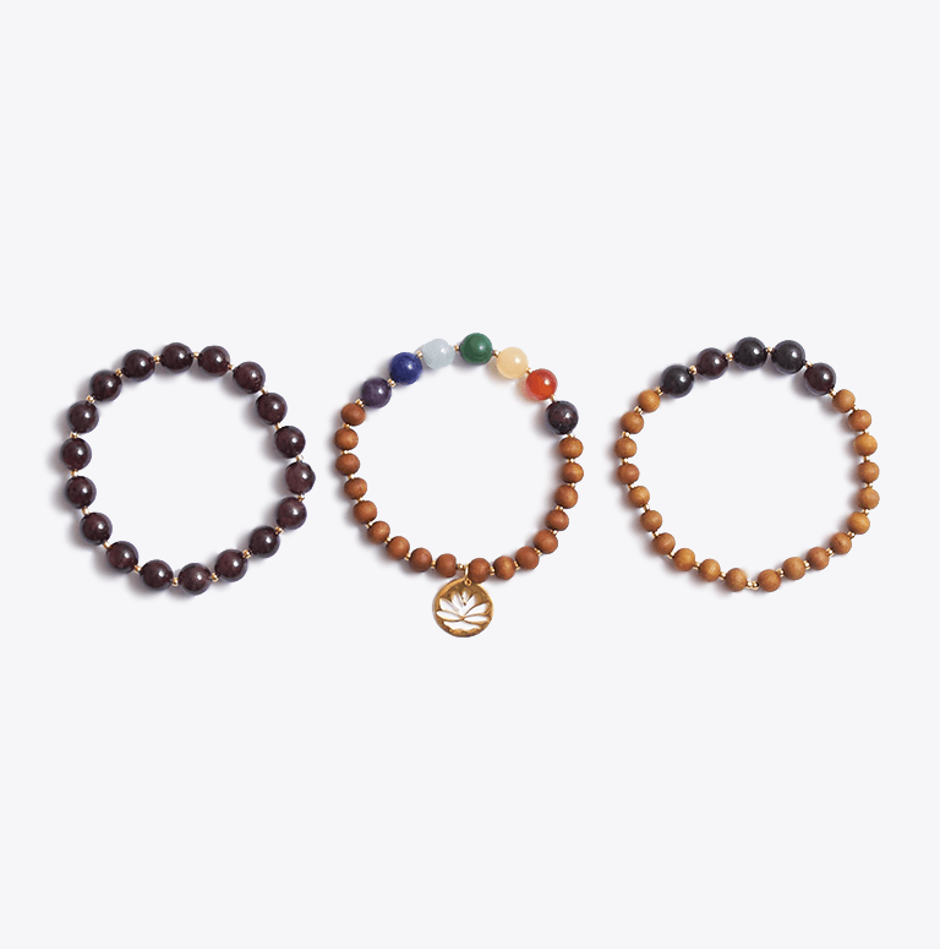 Chakra Bracelet Stack & Sacred Essential Oils Gift Box