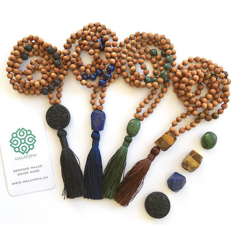 Courage + Protection Mala Necklace