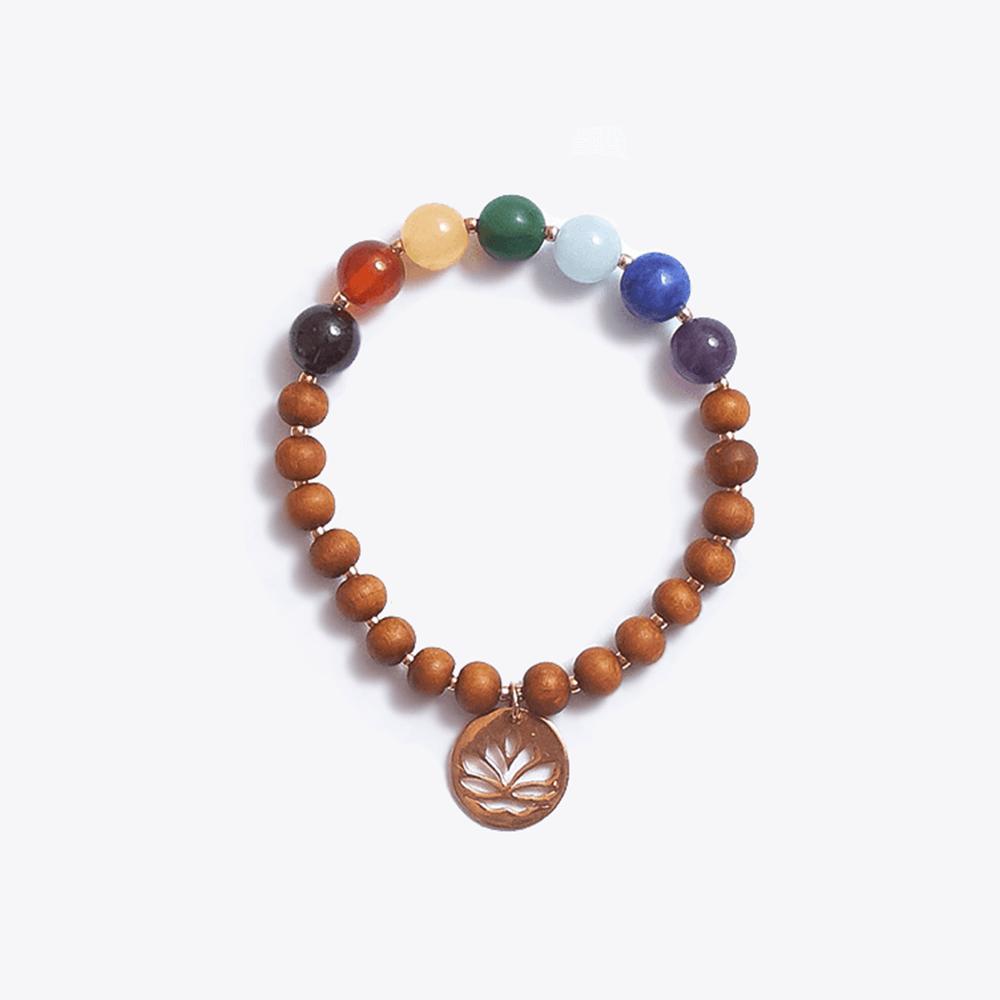 Healing Intentions 7 Gemstone and Sandalwood Chakra Bracelet